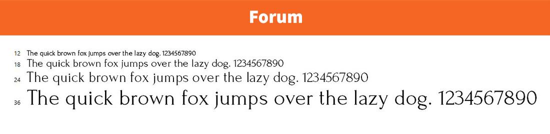 Forum-logo font