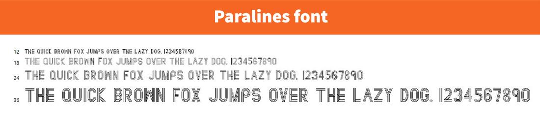 Paralines font