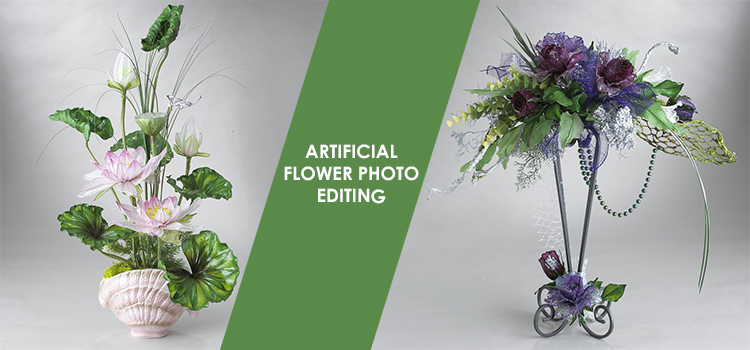 Artificial flower photo editing