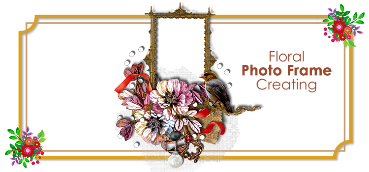 Floral photo frame creating