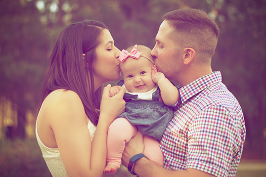 beautiful newborn photography with family