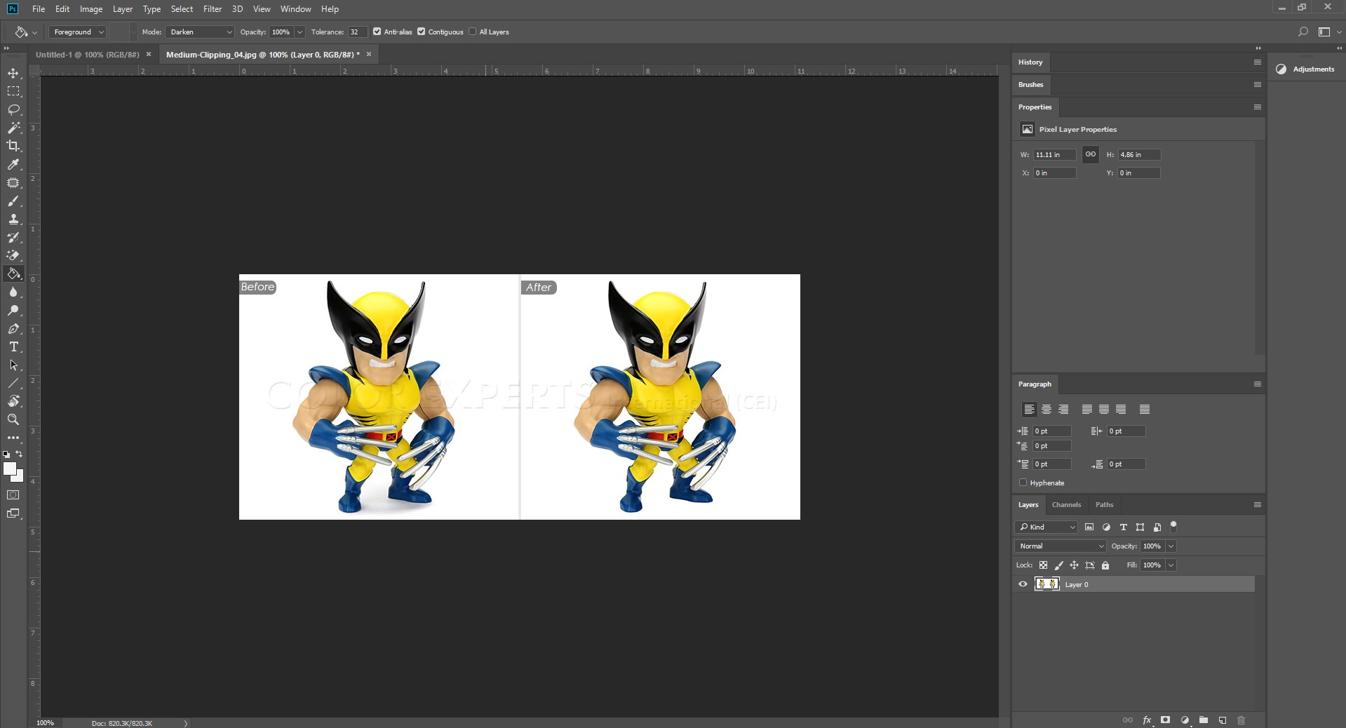 Image 1-how to remove watermark Photoshop