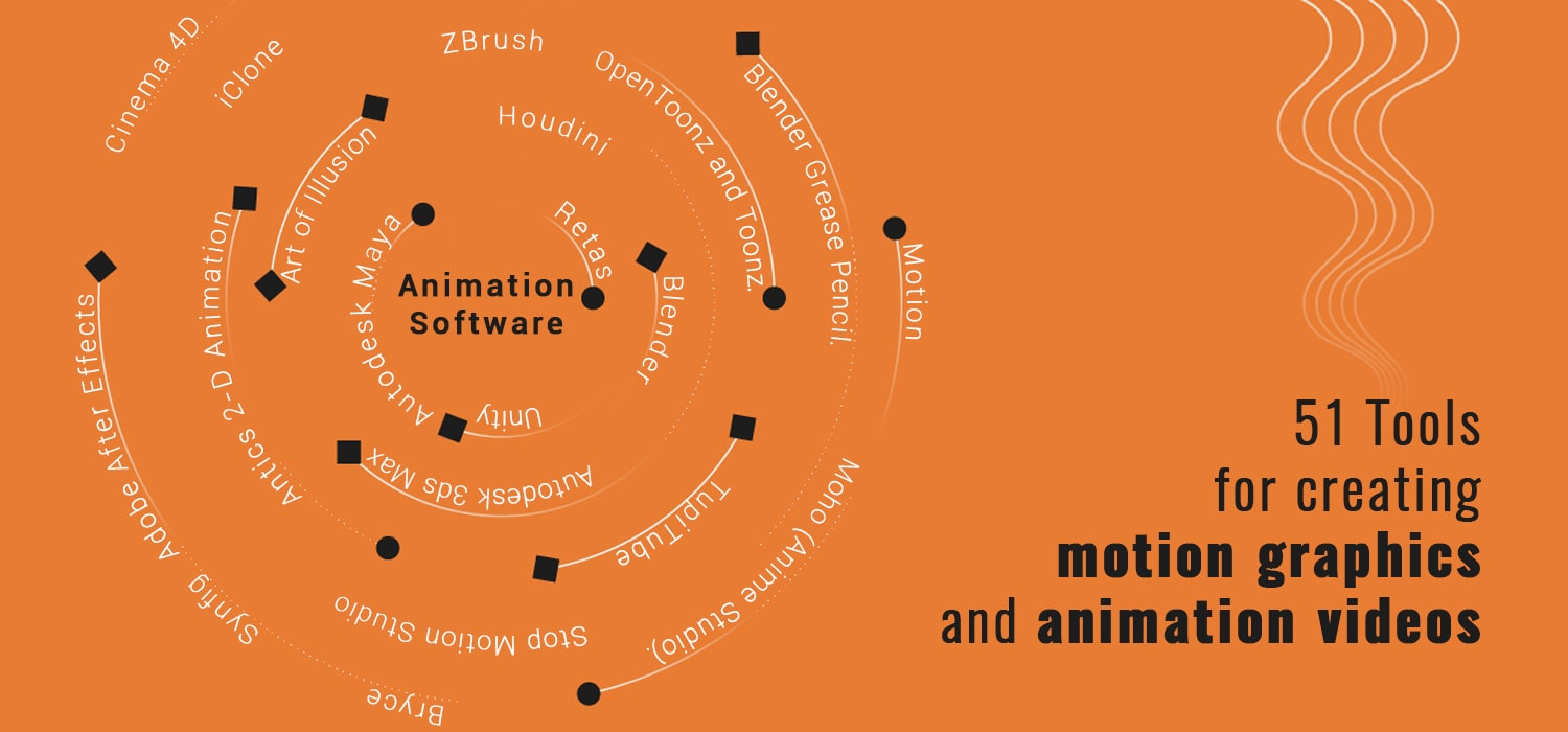 51 Tools for creating motion graphics and animation video