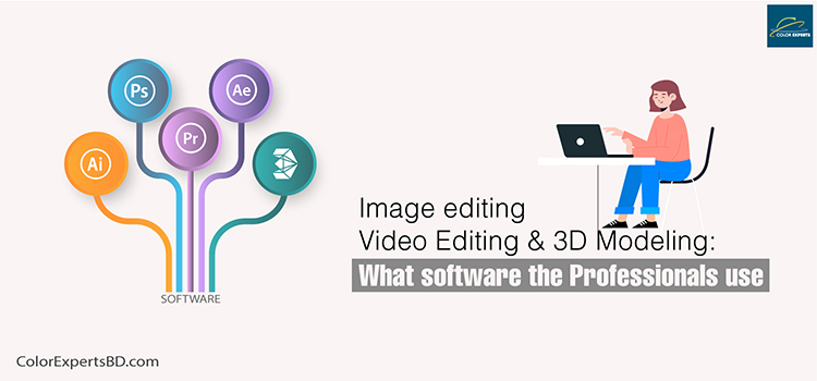 Image Retouching, Video editing, and 3D modeling software