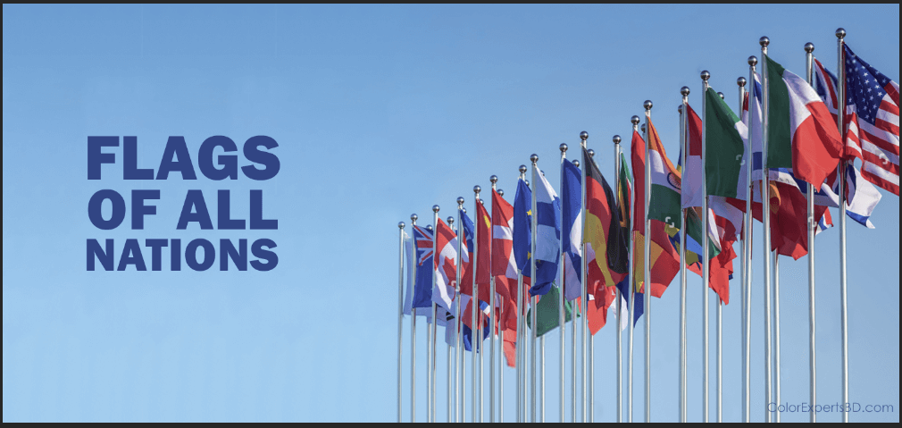 Flags of All Nations - Their Hex codes and Photo Editing Guideline