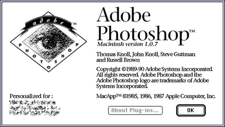Adobe Photoshop 1.0.7