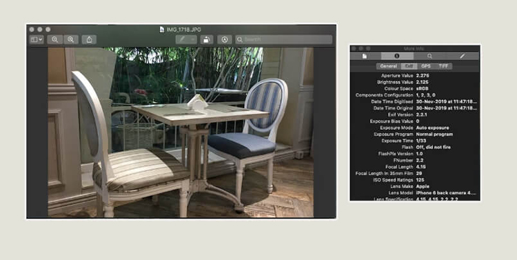 EXIF data on macOS