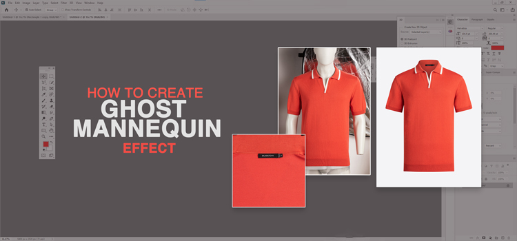 How To Create Ghost Mannequin Effect