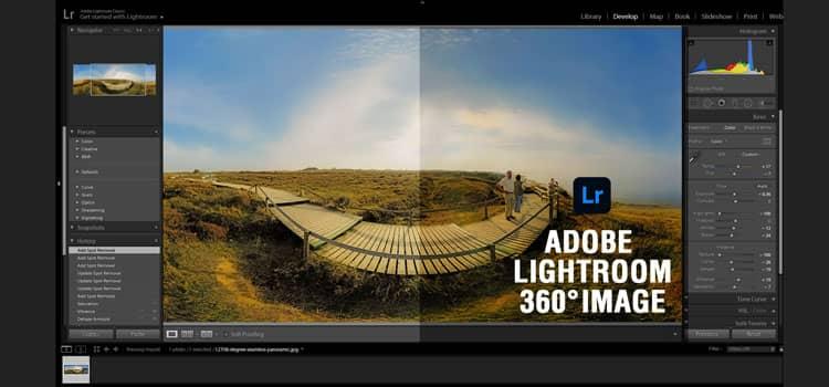 Adobe Lightroom 360° Image retouching
