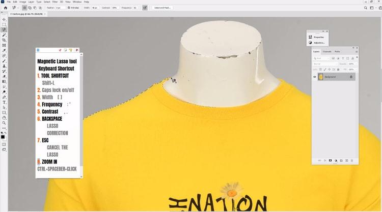 convert lasso anchor into marque selection