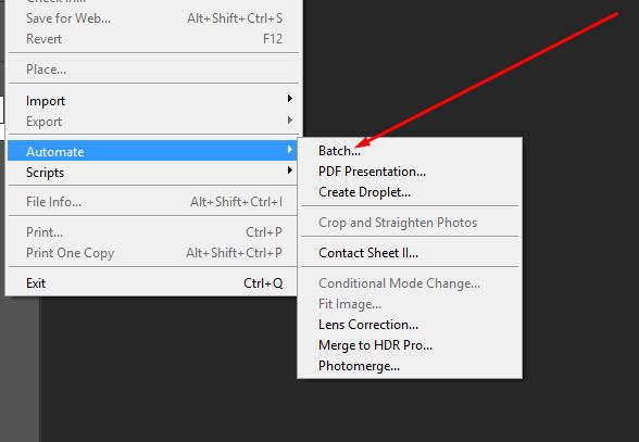 Batch Edit- Automate the Batch