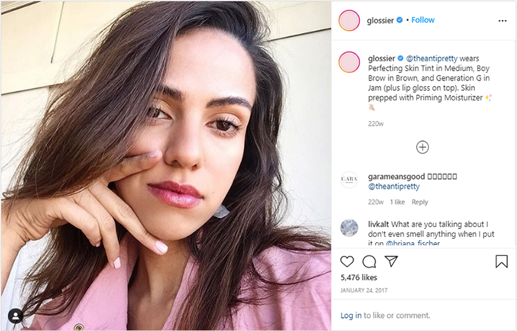 Glossier's Instagram User-generated Content