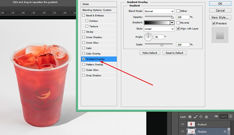 Screenshot 5 (Select the Gradient Overlay)