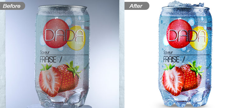 Creative product photo editing service before and after
