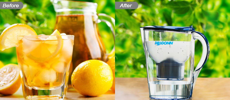 Creative product photo manipulation service before and after